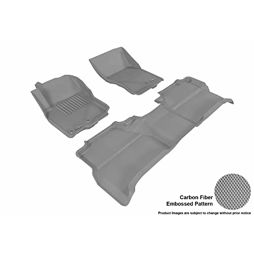 3D MAXpider Complete Set Custom Fit All-Weather Floor Mat for Select Nissan Frontier Models
