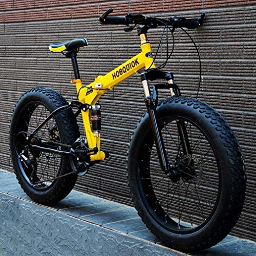 QZ Fat Tire Erwachsene Mountain Bike, Doppelscheibenbremse/High-Carbon Stahlrahmen Cruiser Herrenräder, 24 Inch Beach Snowmobile Fahrrad, Aluminiumlegierung Räder