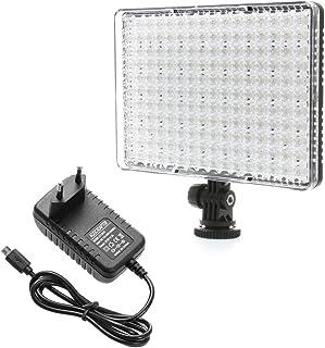 ZCTL Fotostudio Beleuchtung Video Licht Pad 176 LED Videoleuchte Kameralicht Panel Fotolampe mit Netzteil für Canon Nikon Sigma Olympus Pentax PANASONIC HITACHI JVC Samsung Fisher