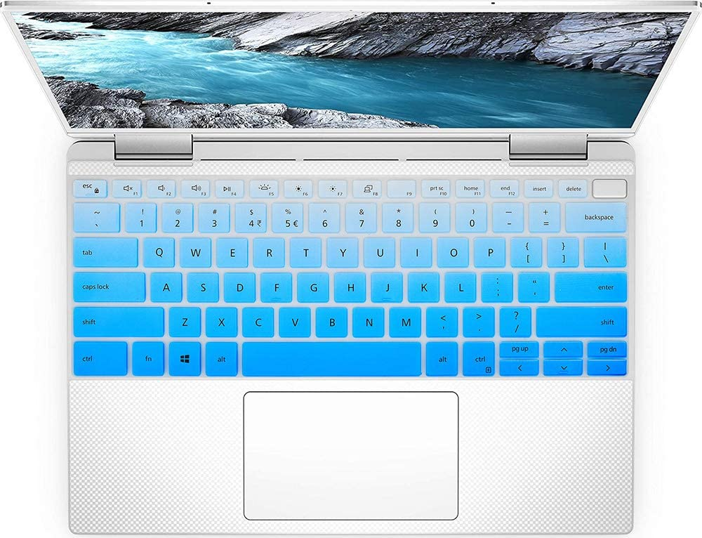 Keyboard Cover Skin for New 2019 Dell XPS 13 7390 2-in-1 13.3