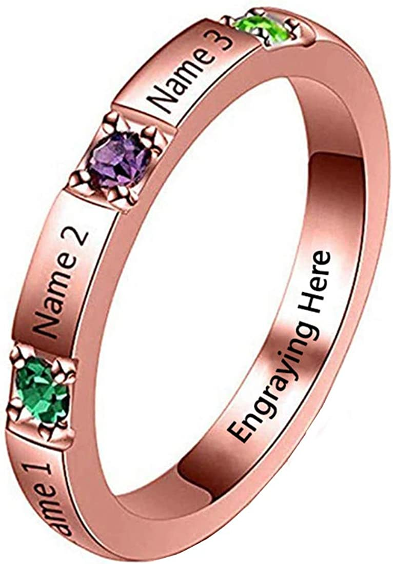Name Ring Engagement Ring Promise Ring for Her Birthstone Ring w
