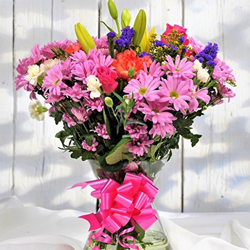 Homeland Florists Value Mixed Fresh Flowers Delivered UK Next Day, Stunning Floral Bouquet, Beautiful Birthday Present or Thank You Gift