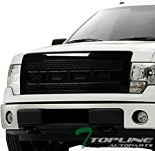 Topline Autopart Glossy Black Raptor Square Mesh Front Hood Bumper Grill Grille ABS For 09-14 Ford F150