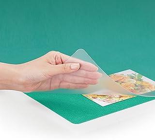 プラス デスクマット マウス対応 下敷付 両面転写軽減 600×450mm 斜めカット 41-028