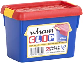Wham 1.02 Clip Storage Box, Red/Blue - 8.5H x 7W x 12D cm