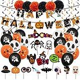 Aischens Halloween Luftballons, Halloween Deko Set, Halloween Ballons Deko Kinderparty, Karneval Dekoration, Grusel deko, Latexballon, für Halloween Bar Home Party Decor Supplies