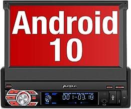 "PUMPKIN Android 10 Radio 1 DIN con GPS Navegador, Autoradio Pantalla Android soporte Bluetooth, Control Volante, WiFi, USB, SD, Subwoofer, Mirror-Link, con 7"" Pantalla Táctil"