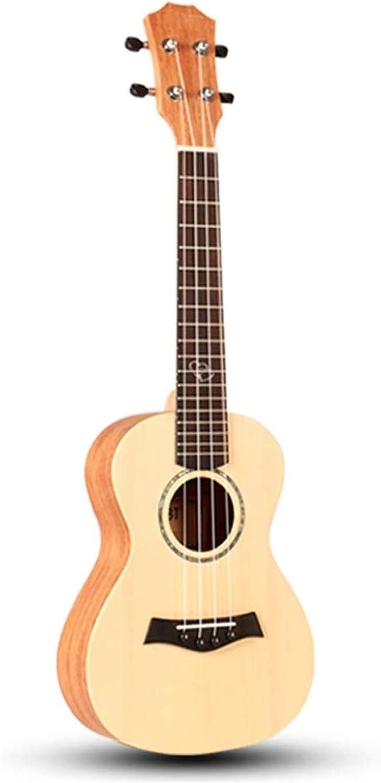 WYKDL Música grabada laser Caoba Concert Ukulele Bundle con acolchado Correa y recoge pequeña guitarra for principiantes de placa única chica estudiante adulto Niño 23 pulgadas Folk Sakura de instrume
