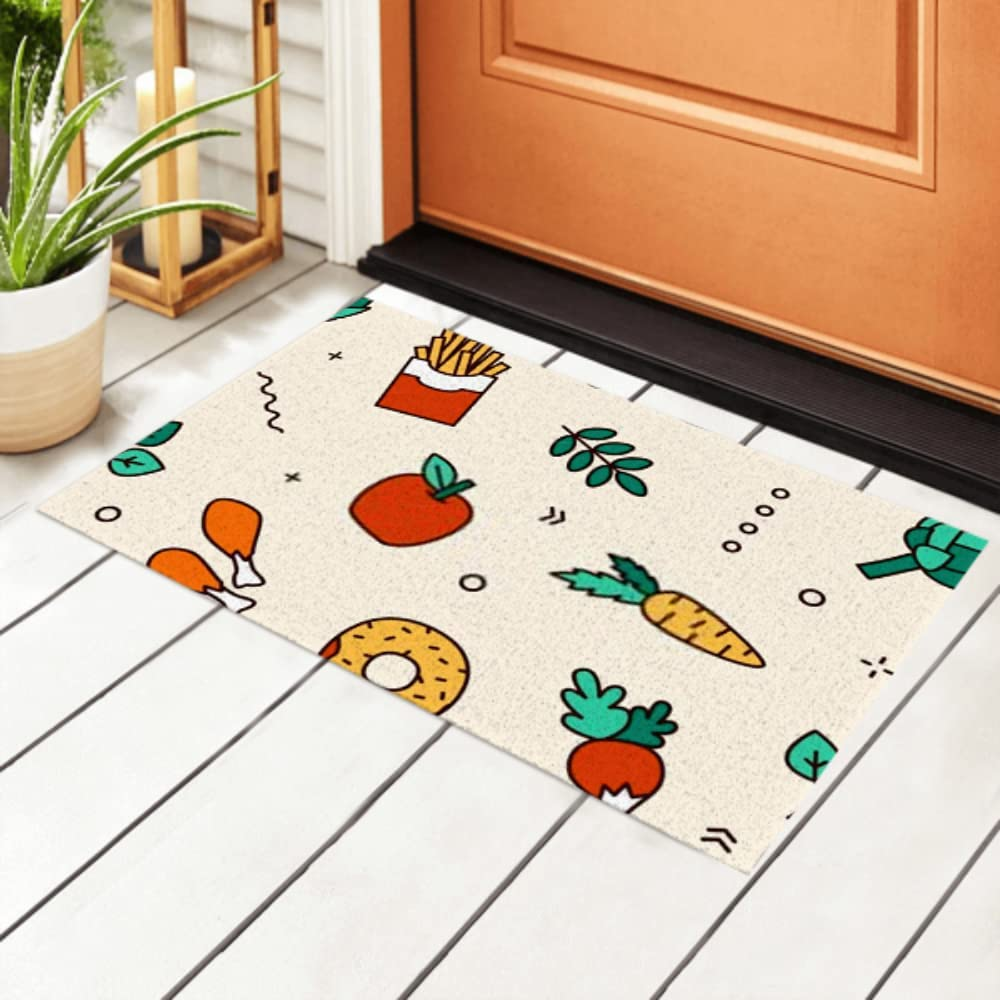 JIUCHUAN Max 55% OFF Indoor Doormat Food NEW before selling ☆ Products Seamless Patte Vector Flat