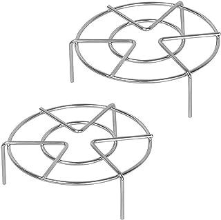 Steamer Rack, Aupolo 2 Pack Rejilla de vapor Soporte de Acero Inoxidable Steaming Rack Cocina Steam Rack Soporte de Alimentos Estantes Soportes para Olla Sartene, 7-Inch Diameter + 1.95 / 2.75 inch