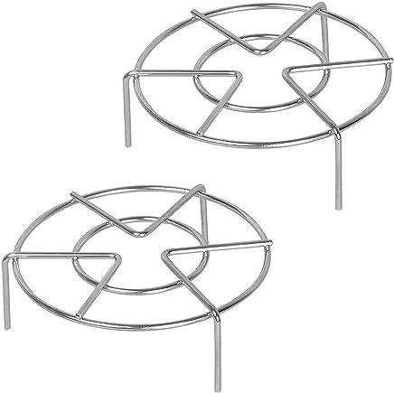Preisvergleich für Konrisa Dämpfen Rack,2 Pack Edelstahl Dampfer Ständer Küche Halter Dampfer Rack für Dampfkochtopf Instant Pot, 7-Zoll-Durchmesser + 1,95/2.75 Zoll Höhe