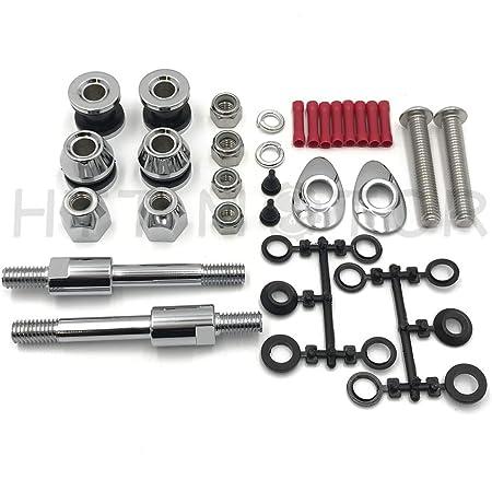 HTTMT Docking Hardware Kit Compatible With Harley H-D Sportster XL Detachable Sissy Bar 2004-2019