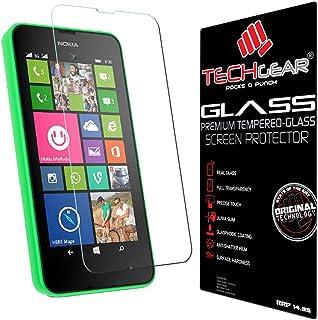 TECHGEAR skärmskydd för Lumia 530 - GLASS Edition äkta härdat glas skärmskydd skydd skydd skydd kompatibel med Nokia Lumia...