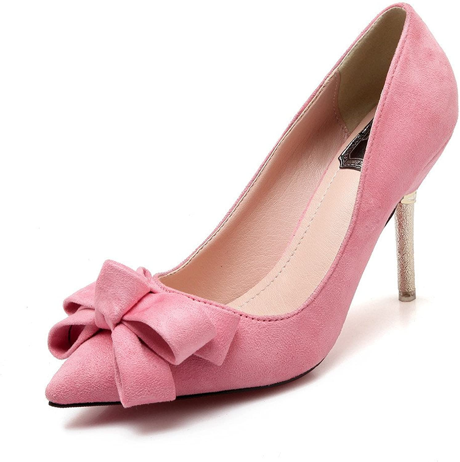 shoesmaker's heart Sexy High-Heeled shoes Suede shoes Women's shoes Spring and Autumn shoes New shoes Low Fashion High Heels Fine Heel Pointed Point