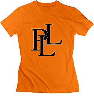 ToWi Lady Pretty Little Liars Logo Crew Neck Tshirts Orange L