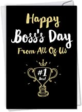NobleWorks - Boss's Day Greeting Card with Envelope - Boss Appreciation, Gratitude Notecard for Manager, Work - Happy Boss...