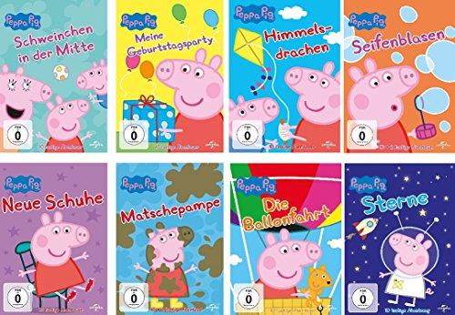 Peppa Pig - 8 DVD Set (Vol. 1 - Vol. 8) - Deutsche Originalware [8 DVDs]