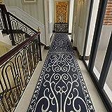 atat Azul Oscuro Pasillo de alfombras Corredor de la Vendimia en los países nórdicos Alfombras Corredor Sucio Resistente Estera de Hotel Home Pasillo Largo Apartamento 320 (Size : 1.2×5M)