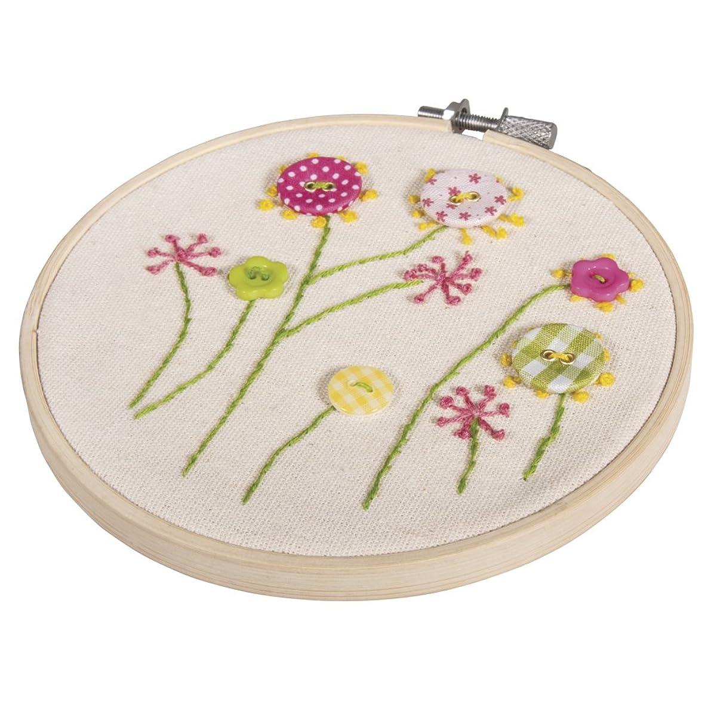 RAYHER BP Cross Stitch Flower Miscellaneous White, 1.75?x 1.4?x 0.3?cm