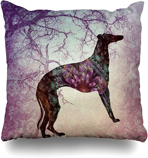 Ahawoso Decorative Throw Pillow Cover Square 16x16 By Board Paw Quotes English Greyhound Modern Enchantment Fans Checks Roses Its Rose Romance Love Race Cushion Case Home Decor Zippered Pillowcase