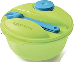 Tupperware Crystalwave Hot Food on The Go Set with Plus Stain Guard - Microwave Reheatable - 6.25 Cup Food Storage Container with Fork & Spoon - Liquid & Airtight!