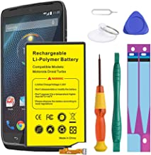 (Upgraded) Motorola Droid Turbo Battery,Euhan 3900mAh Rechargeable Li-Polymer Battery SNN5949A Replacement for Motorola Droid Turbo XT1254 XT1225 XT928 EQ40 + Repair Replacement Kit Tools