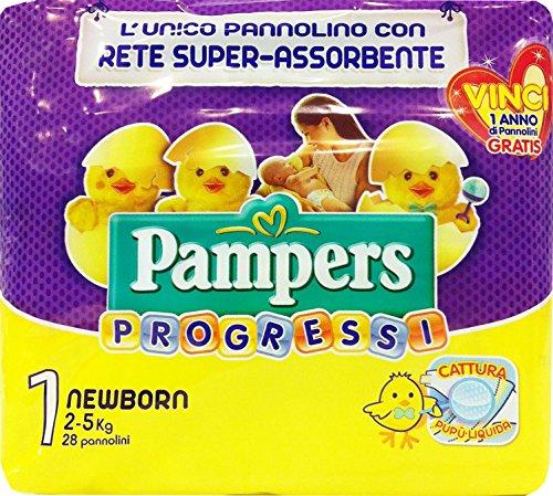 PAMPERS Windel B.Progressi Newborn Größe '1' 2-5 kg 28 Stück