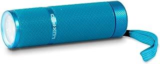 LUX-PRO LP395-LB Gels Glow in Dark 9 LED Flashlight, LIGHT Blue