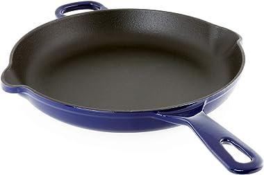 Chantal Cast Iron Cookware, 10 inch Skillet, Cobalt Blue