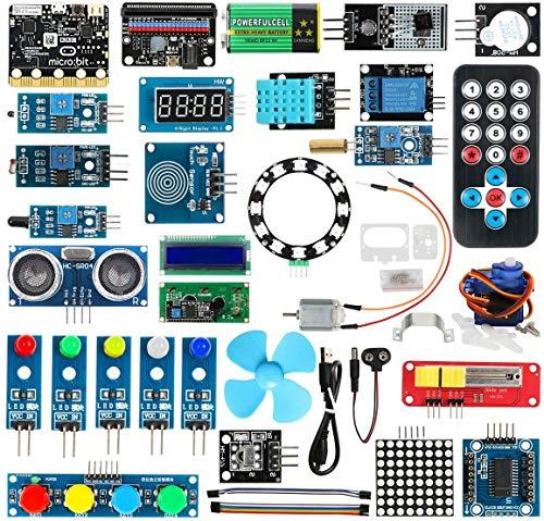 Keywishbot Micro Bit Starter Kit, Electronic Microbit Starter Kit for BBC Micro:bit with 33 Lesson Tutorial