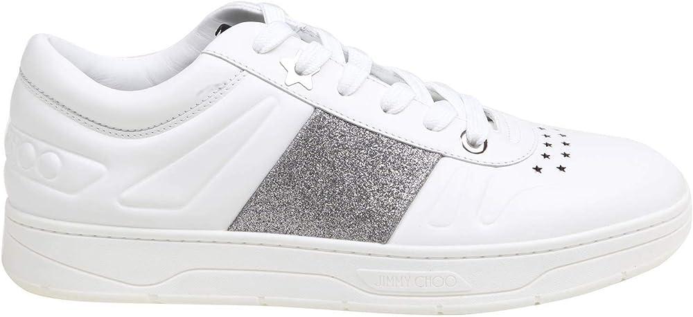 Jimmy choo luxury fashion,sneakers per uomo,in vera pelle al 100 % HAWAIIMFAF