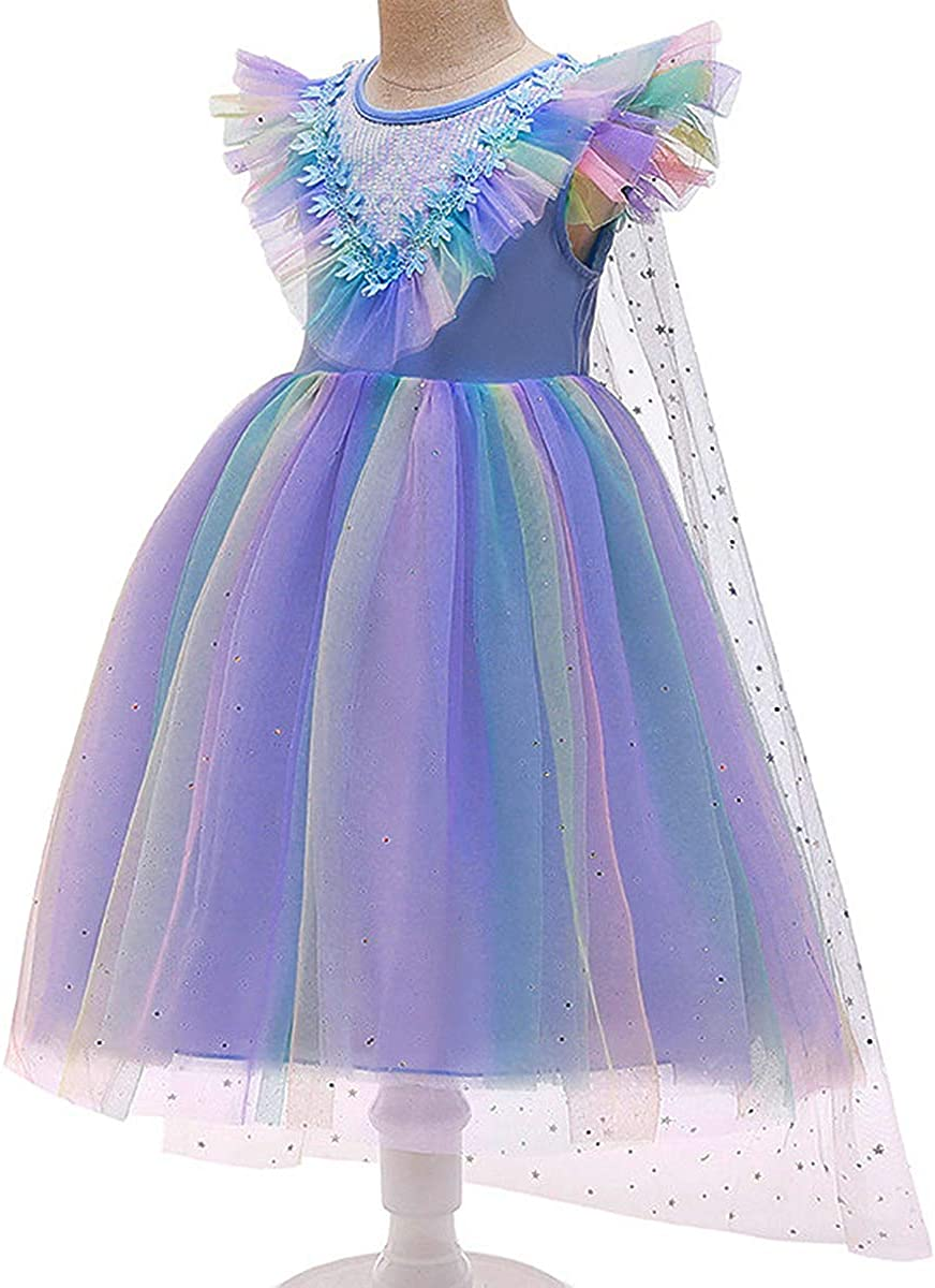 PROALLO Snow Party Dress Queen Costume Princess Cosplay Dress Up