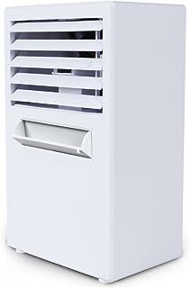 Aire acondicionado con ventilador con tanque de agua, humidificador de aire de 4 – 6 h con temporizador, tiempo de pulverización bajo de ruido, enchufe de la UE, Blanco