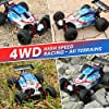 RC Cars 1:18 Scale High Speed Remote Control Car for Adults Kids Boys, 25+ MPH 4WD All Terrain Off Road Monster Trucks, 2.4GHz Rally Buggy Toys with 2 Rechargeable Batteries for 40+ Min Play #2
