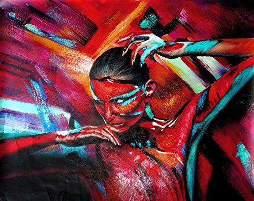 Legendarte C-44 Quadro Dipinto a Mano - Diabolica Tentazione, Olio su tela, Multicolore, cm. 80 x 60