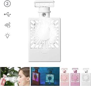 Portátil Enfriamiento Misting Fan,Mini Botella De Perfume Enfriador De Aire 7 Colores Luz 2 Velocidad Ventilador Personal Usb Ventilador De Escritorio Para Casa Coche A 15.2*8*2.5cm/5.9x3.1x0.9'