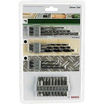 Bosch 2 609 256 989 - Juego variado Uneo (pack de 19): Amazon.es: Bricolaje y herramientas