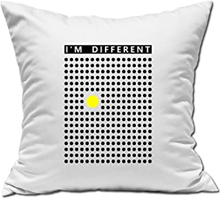 Desconocido I Am Different Yellow Dot Stand out Almohada Blanca 40x40cm