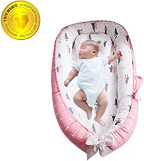 Baby Lounger Nest,Foonee Portable Crib and Bassinet Perfect for Co Sleeping,Super Soft and Breathable Newborn Lounger Cushion Suitable from 0-12 Months - Detachable & Machine Washable