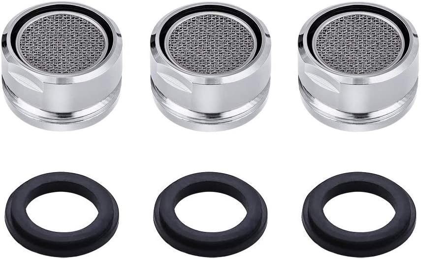 BYBOT 3 piezas Aireador Grifo de Cocina/Baño Grifo, Filtro de Grifo Aireador de agua con junta Para cocina y baño