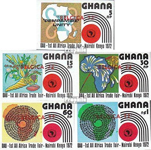 Prophila Collection Ghana 463B-467B (kompl.Ausg.) 1972 Philatelie (Briefmarken für Sammler) Pflanzen