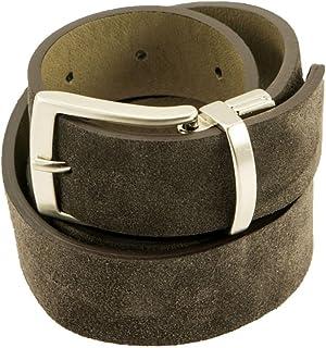 Old Crest Cintura Double Face Cuoio e Camoscio Made in Italy MainApps