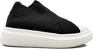 FESSURA Scarpe Uomo Donna Sneakers Sportive Sleepers Slip-on con Rialzo Comode Tempo Libero Casual Nero Nere Bianco Edge b...