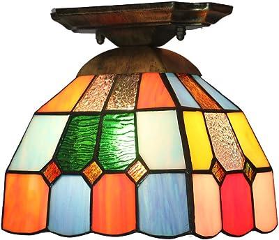 ZHMA Estilo de Tiffany lámpara de techo, 15cm Lamparas ...