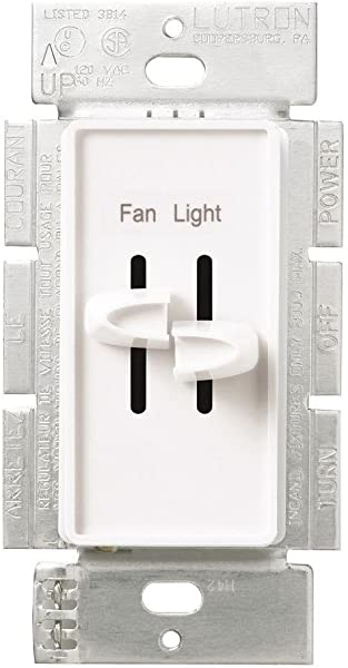 Lutron S2 LFSQ WH Skylark Dimmer Fan Control White Renewed