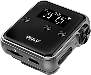 iRULU H10 High Resolution Mp3 Player with Bluetooth:16GB DSD HiFi Lossless Audio Player Metal Case with Clip for Music Lover and Sports, Support up to 256GB