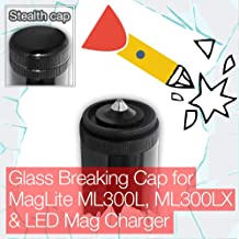Stealthy Glass Breaking End/Tail Cap for MagLite ML300L, ML300LX and LED Mag Charger Torch/Flashlight