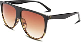 Vintage Large Square Pilot Women Sunglasses Oversized Square Thin Plastic Frame B2499
