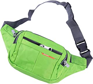 BESPORTBLE 1pc Waist Bag Safe Sports Outdoor Casual Outdoor Multifunction Crossbody Bag Sports Waist Bag for Camping Climing Cycling Fishing Green