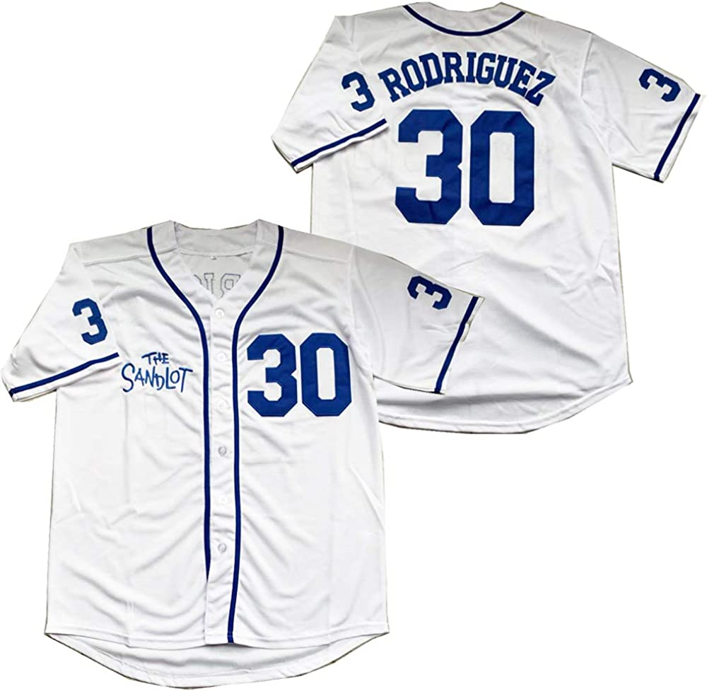 Regular store The Sandlot Benny Rodriguez Max 40% OFF Men Stitched Baseball Movie Jersey